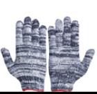 ถุงมือผ้าทอลายเทา