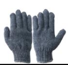 ถุงมือผ้าทอสีเทาล้วน