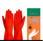 ถุงมือยางสีส้ม ตราแพนด้า