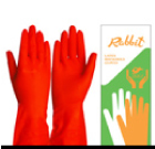 ถุงมือยางสีส้ม ตราแรบบิท
