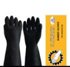 ถุงมือยาง สีดำ ตรา 3 ห่าน-14 นิ้ว