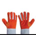 ถุงมือหนังท้อง 2 ด้าน แบบสั้น