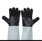 ถุงมือหนังรับทุเรียน แบบยาว