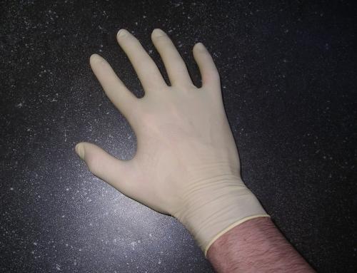 ถุงมือยางจากยางธรรมชาติ 100%